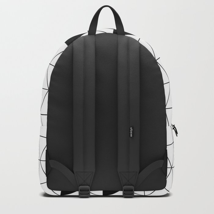 Black and white geometric design. Backpack