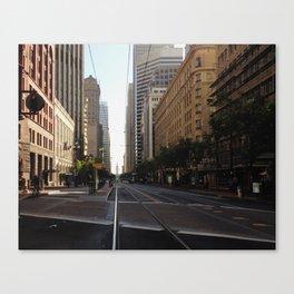 San Fransisco streets lead somewhere.  Canvas Print