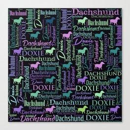 Dachshund Word Art Canvas Print
