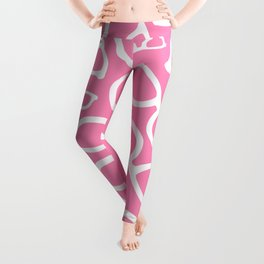 Smart Glasses Pattern - Pink Leggings