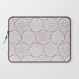 Sanddollar Pattern in Purple Laptop Sleeve