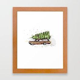 Perfect Christmas Tree Framed Art Print