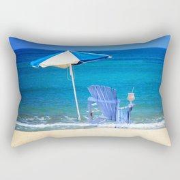 Blue Rocking Chair Rectangular Pillow