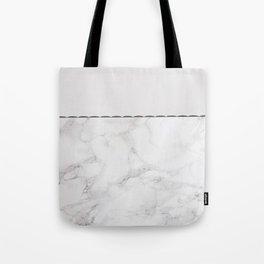 Elegant vintage white gray stylish marble Tote Bag