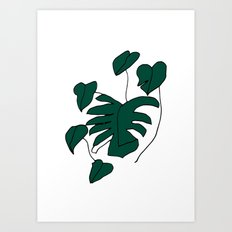 Plant on white Art Print
