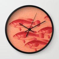 "fez Wall Clocks featuring Coletivo ""Peixes"" by Fernando Vieira"