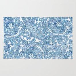 Blue Boho Paisley Pattern II Rug