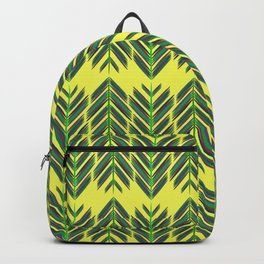Green feathers Backpack