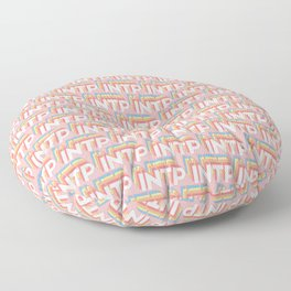 INTP Trendy Rainbow Text Pattern (Pink) Floor Pillow
