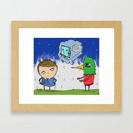 please don't stay mad forever Framed Art Print