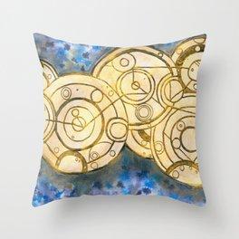 gallifreyan symbols Throw Pillow