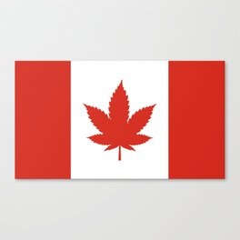 O Canada! (Hemp Flag) Canvas Print