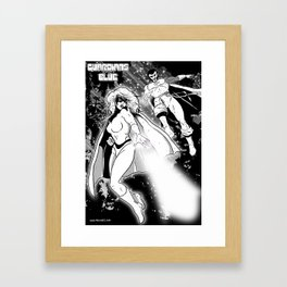 Guardians of the Blue - pin-up 01 Framed Art Print