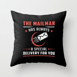 Postman Mailman Day Post Mail Delivery Gift Idea Throw Pillow
