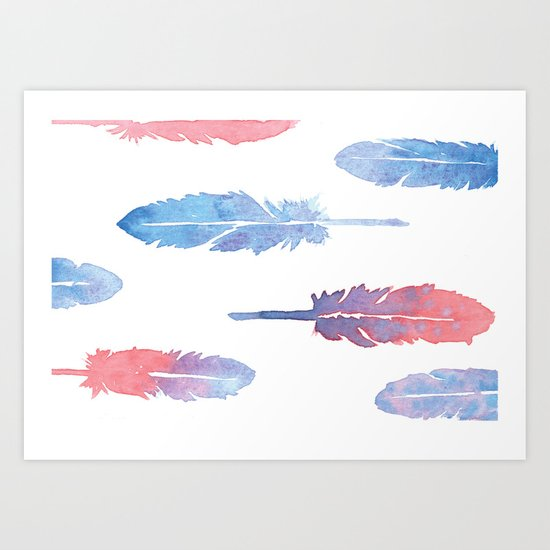 Feather forest Art Print