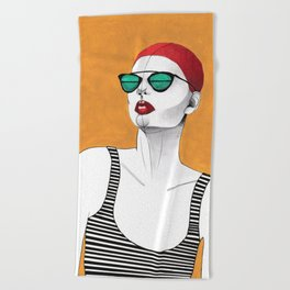 Stripe Swimmer Beach Towel