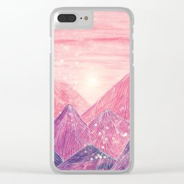 Lines in the mountains XXI Clear iPhone Case