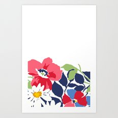 Flower draw Art Print