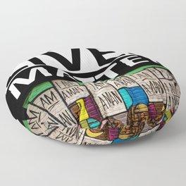 Black Lives Matter - I Am A Man Mural motif Floor Pillow
