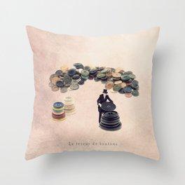 The button sorter Throw Pillow