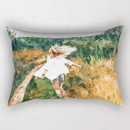 Free Spirit || #painting #nature Rectangular Pillow