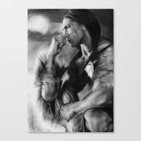 native american Canvas Prints featuring Native American  by Thubakabra