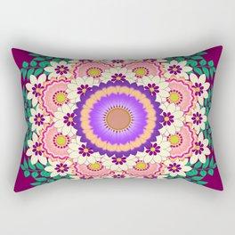 Flowers mandala Rectangular Pillow