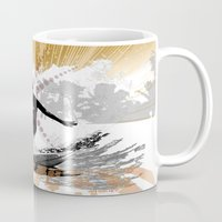 surfer Mugs featuring surfer by michael cheung