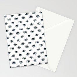 Evil eyes pattern Stationery Cards