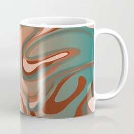 Liquify - Teal, Terra Cotta, Burnt Sienna, Peach Coffee Mug