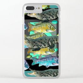 FISH DINNER & HUNGRY ALLIGATORS BLUE ART Clear iPhone Case