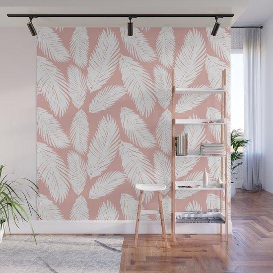Pink Tropical Leaf Pattern by julieerindesigns