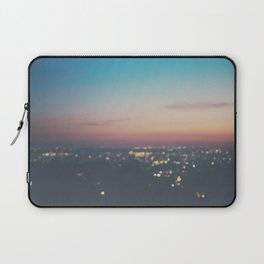 Looking down on the lights of Los Angeles as night. Laptop Sleeve