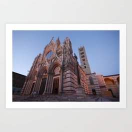 Main cathedral in Siena Art Print