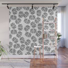 Abstract hand painted modern black geometrical pattern Wall Mural