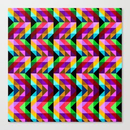 Rainbow Geometry Canvas Print