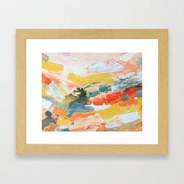 6 AM YOGA Framed Art Print