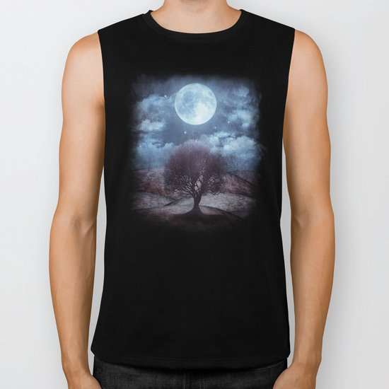 Once upon a time... The lone tree. Biker Tank