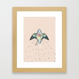 Birth of a bird Framed Art Print