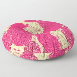 Pink and Cream Dots Floor Pillow