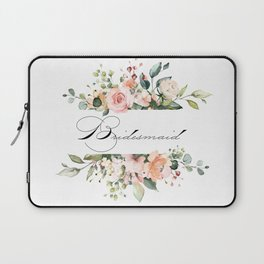 Bridesmaid Floral Laptop Sleeve