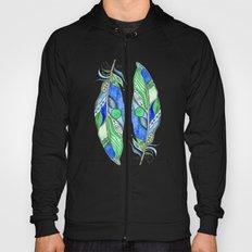 Bohemian Spirit Feathers - Blue & Green Hoody