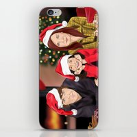 allison argent iPhone & iPod Skins featuring Merry Christmas - Argent Family by Finduilas