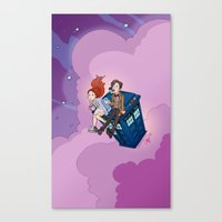 dodgers Canvas Prints featuring Jammie Dodgers Doctor Who by Aimee Steinberger