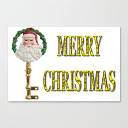 Merry Christmas Santa Key Decoration Canvas Print