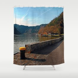 Sunny afternoon at the harbour | landscape photography Shower Curtain