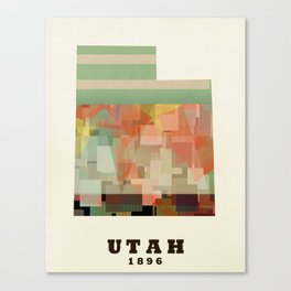 Utah state map modern Canvas Print