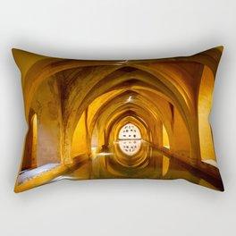 The Baths of Dona Maria de Padilla in Royal Alcazar in Seville, Spain Rectangular Pillow