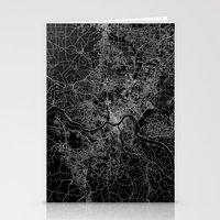 cincinnati Stationery Cards featuring Cincinnati map by Line Line Lines