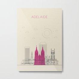 Colorful Skylines: Adelaide, Australia Metal Print